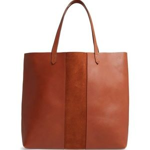NWT Madewell Transport Tote w/ Brown Suede Stripe